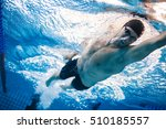 Man Swimming The Front Crawl I...