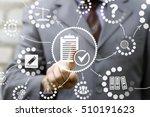 businessman presses compliance... | Shutterstock . vector #510191623
