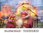 emergency fire rescue . | Shutterstock . vector #510201823