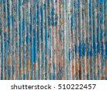 zinc old metal wall background...   Shutterstock . vector #510222457