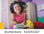 cute little schoolgirl in... | Shutterstock . vector #510241267