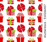 vector seamless christmas... | Shutterstock .eps vector #510266407