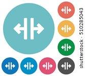 vertical split white flat icons ... | Shutterstock .eps vector #510285043