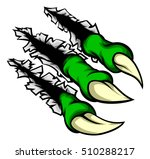 cartoon monster claw ripping or ... | Shutterstock .eps vector #510288217