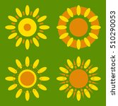set of daisy icons isolated....   Shutterstock .eps vector #510290053