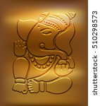 ganesha   metallic golden... | Shutterstock .eps vector #510298573