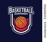 basketball logo  american logo... | Shutterstock .eps vector #510305503