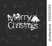 christmas typography  merry... | Shutterstock .eps vector #510321253