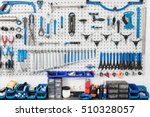 bicycle tools in the board.... | Shutterstock . vector #510328057