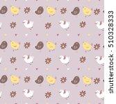 cute vector seamless pattern... | Shutterstock .eps vector #510328333