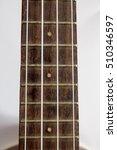 Small photo of close up Ukulele Hawaii guitar on white background