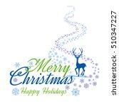 merry christmas lettering ... | Shutterstock .eps vector #510347227