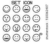outline set vector icons.... | Shutterstock .eps vector #510362407