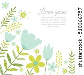 template card with spring... | Shutterstock .eps vector #510366757