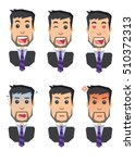 icons of human emotions flat... | Shutterstock . vector #510372313