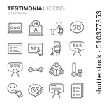testimonial and feedback icons | Shutterstock .eps vector #510377353