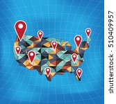 us map info graphics design... | Shutterstock .eps vector #510409957