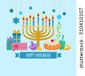 hanukkah jewish holiday banner... | Shutterstock .eps vector #510410107