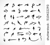 hand drawn arrows  vector set | Shutterstock .eps vector #510422293