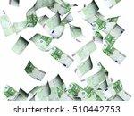 flying banknotes of hundred... | Shutterstock . vector #510442753
