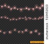christmas lights isolated on... | Shutterstock .eps vector #510452023