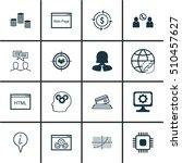 set of 16 universal editable... | Shutterstock .eps vector #510457627