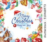 background for christmas card | Shutterstock .eps vector #510468973