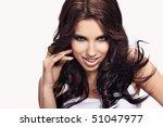 portrait of wonderful woman | Shutterstock . vector #51047977