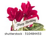 happy birthday card with... | Shutterstock . vector #510484453