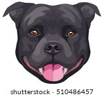graphic portrait of the dog... | Shutterstock .eps vector #510486457