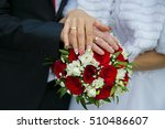 hands of a newly married couple ... | Shutterstock . vector #510486607