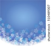 winter blue background with... | Shutterstock . vector #510489307