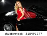 beautiful girl in the car.... | Shutterstock . vector #510491377