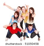group people with thumbs up.... | Shutterstock . vector #51050458
