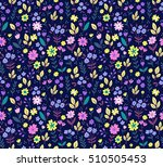 seamless pattern with flowers... | Shutterstock .eps vector #510505453