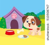 vector illustration of puppy