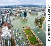 dusseldorf  media harbour with... | Shutterstock . vector #510518587