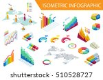 flat 3d isometric infographic... | Shutterstock .eps vector #510528727