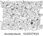 black and white line... | Shutterstock .eps vector #510557923