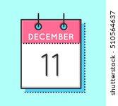 vector calendar icon. flat and...