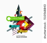 vector geometric christmas sale ... | Shutterstock .eps vector #510568843