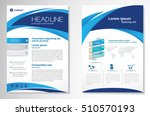 vector brochure flyer design... | Shutterstock .eps vector #510570193