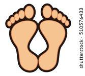 feet  vector icon | Shutterstock .eps vector #510576433