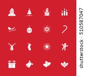 christmas and new year icon set ... | Shutterstock .eps vector #510587047