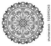 flower mandala. vintage... | Shutterstock .eps vector #510595243