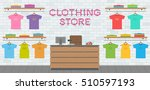 clothing store interior | Shutterstock .eps vector #510597193