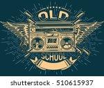 old school music emblem