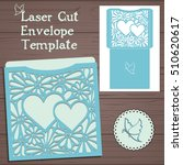 lasercut vector wedding... | Shutterstock .eps vector #510620617
