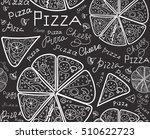 vector food vector seamless... | Shutterstock .eps vector #510622723