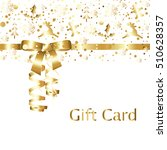elegant golden gift card with... | Shutterstock .eps vector #510628357